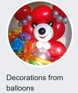 decoration from ballooons